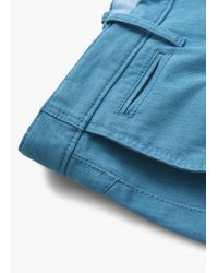 Mango | Blue Cotton Bermuda Shorts for Men | Lyst