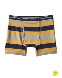 Banana Republic - Gray Factory Rugby-stripe Boxer Brief for Men - Lyst
