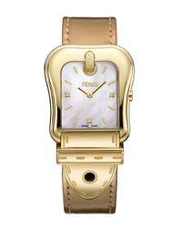 Fendi - Metallic Ladies B. Goldtone Timepiece - Lyst