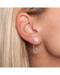 Leivan Kash - Metallic Ava Earring Silver & Pearl - Lyst