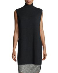 Adam Lippes - Gray Sleeveless Double-faced Turtleneck Tunic - Lyst