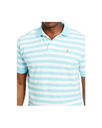 Polo Ralph Lauren | Blue Big And Tall Classic-fit Striped Mesh Polo Shirt for Men | Lyst