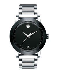 Movado - Metallic 42mm Museum Sport Stainless Steel Watch - Lyst