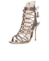 Sophia Webster - Metallic Lacey Leather Heels - Lyst