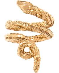 Aurelie Bidermann | Metallic 'Asclepios' Snake Ring | Lyst