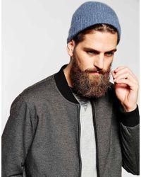 ASOS - Blue Cashmere Beanie Hat for Men - Lyst