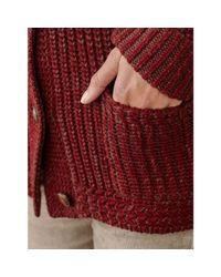 RRL - Red Shawl-collar Wool Cardigan - Lyst