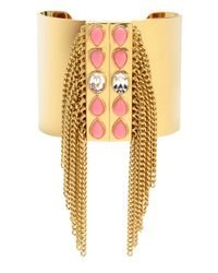 Juicy Couture | Metallic Fringe Cuff Bracelet | Lyst
