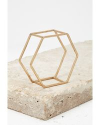 Forever 21 - Metallic Caged Hexagon Bangle - Lyst