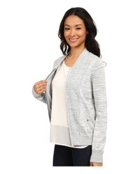 Calvin Klein Jeans | Gray Mixed Stitch Bomber | Lyst