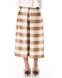 Tibi - Natural Escalante Striped Silk Culottes - Lyst