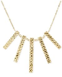 Macy's | Metallic Reversible Bar Frontal Necklace In 14k Gold | Lyst