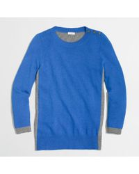 J.Crew - Blue Factory Colorblock Elbow Patch Sweater - Lyst