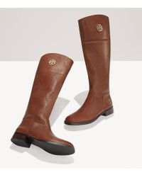 Tory Burch | Brown Junction Riding Boot | Lyst