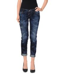 DSquared² - Blue Denim Capris - Lyst