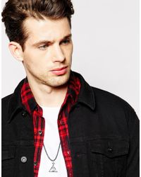 ASOS   Rope Necklace In Black With Geometric Pendant for Men   Lyst