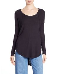 Free People | Black Ventura Thermal Top | Lyst