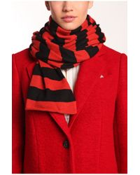 BOSS Orange | Red Knitwear Scarf 'walea' | Lyst