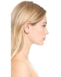 Fallon - Metallic Double Microspike Earrings - Gold - Lyst