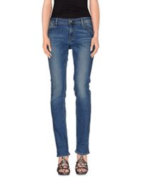 Guess - Blue Denim Pants - Lyst