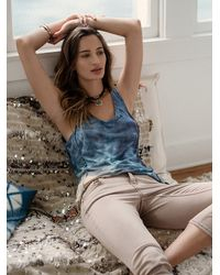 Free People | Gray Hero Crane For Womens Washed Lounge Top | Lyst