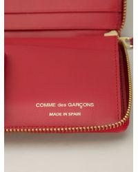 Comme des Garçons | Red 'embossed B' Zip-around Wallet | Lyst