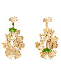 Aurelie Bidermann | Metallic Ginkgo Leaf Earrings | Lyst