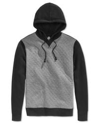 American Rag - Black Quilted Colorblocked Hoodie for Men - Lyst