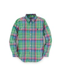Ralph Lauren | Green Blake Plaid Cotton Shirt for Men | Lyst