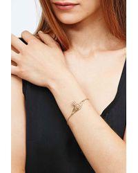 Vivienne Westwood - Metallic Thin Lines Flat Orb Bracelet in Gold - Lyst