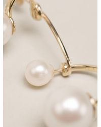 Delfina Delettrez | Metallic 9kt Gold Multipearl Earring | Lyst
