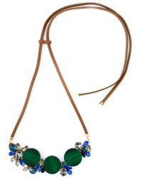 Marni | Blue Contrasting Panel Necklace | Lyst