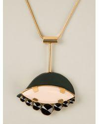 Marni - Black Jewelled Emblem Necklace - Lyst