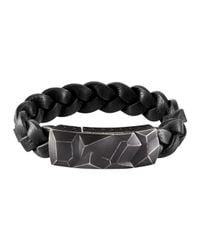 John Hardy | Black Mens Classic Chain Station Bracelet With Leather Strap for Men | Lyst