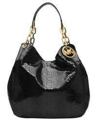 Michael Kors - Black Michael Fulton Large Shoulder Tote - Lyst