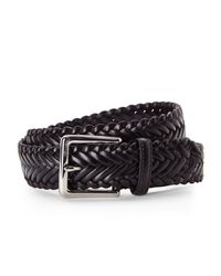 Cole Haan | Black Braided Belt for Men | Lyst