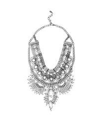 AKIRA | Metallic Be-jeweled Life Black Night Crystal Necklace & Earring Set | Lyst
