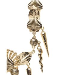Fausto Puglisi | Metallic Gold Shell And Fringe Necklace | Lyst