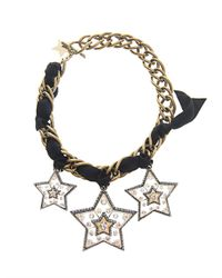Lanvin | Black Altair Three Star Necklace | Lyst
