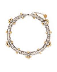 Ela Stone - Metallic 'Blake' Cluster Stud Chain Link Necklace - Lyst