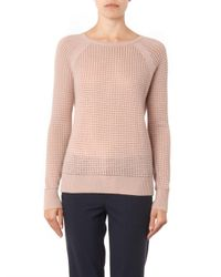 Vince - Pink Cashmere-blend Thermal Sweater - Lyst