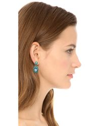 Miguel Ases - Blue Marquis Beaded Earrings - Lyst