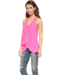 Ramy Brook - Pink Hannah Blouse - Magenta - Lyst