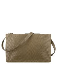 Nine West - Natural Table Treasure Tri-zip Crossbody - Lyst
