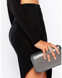 Lipsy | Metallic Two Pack Pave Wrap Rings | Lyst