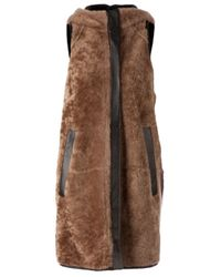 Marni - Brown Bi-Colour Shearling Gilet - Lyst