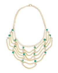 Fragments | Metallic Draped Beaded Chain Necklace | Lyst