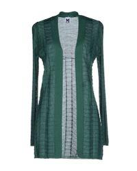 M Missoni - Green Wool-blend Striped Sweater - Lyst