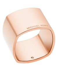 Michael Kors | Gold Etched Logo Band Ring | Lyst