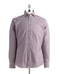 Strellson | Slim Fit Checkered Sportshirt for Men | Lyst